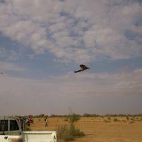 Trabajo de topografía con dron en Senegal