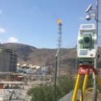 Trabajos de topografía en instalaciones de Enagas en Cartagena (Murcia)