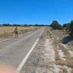 Trabajos de topografía en la CV-8 Monegrillo – Osera