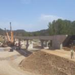 Avanzan las obras en el puente sobre el Rio Bergantes en la CV-14 en Zorita (Castellón)
