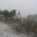 Trabajo de topografía en CR Barranco en Cosuenda provincia de Zaragoza